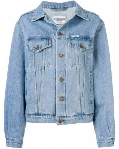 Хлопковая синяя с рукавами джинсовая рубашка Forte Dei Marmi Couture