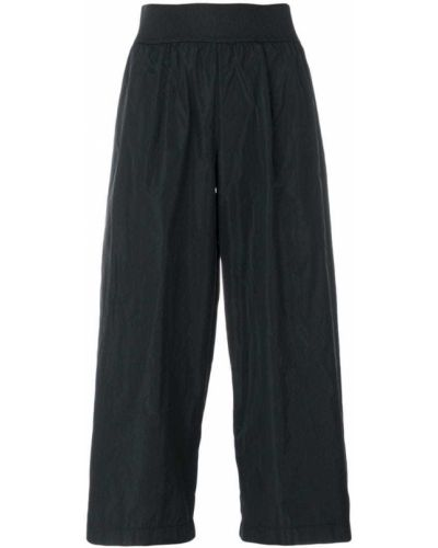 Черные укороченные брюки с поясом Maria Calderara