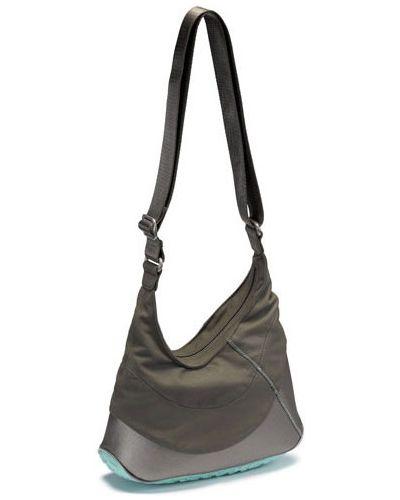 Спортивная сумка серая на плечо Ecco