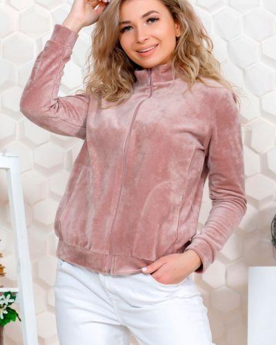 Розовая велюровая кофта инсантрик