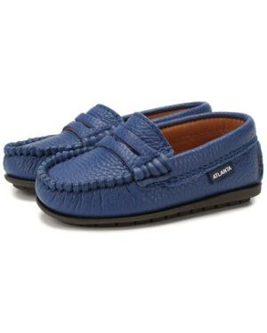 Мокасины кожаные синие Atlanta Mocassin