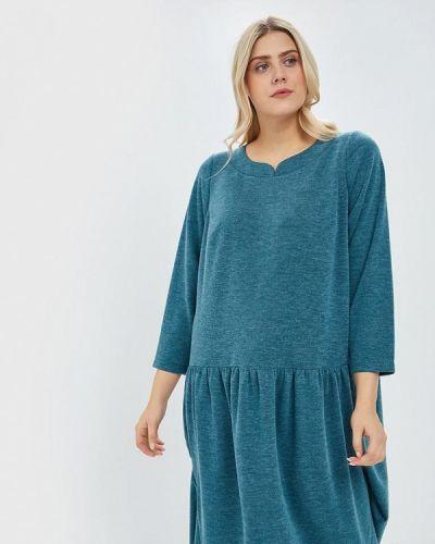 Повседневное платье осеннее зеленый Darissa Fashion