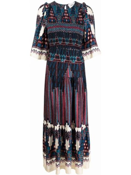 Niebieska sukienka z wiskozy Ba&sh