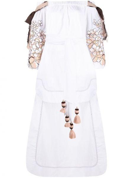 Хлопковое платье макси - белое Yuliya Magdych