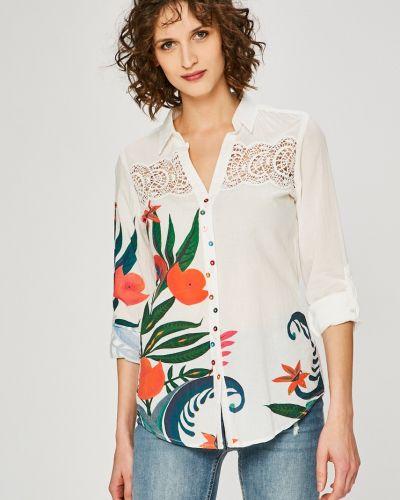 Белая блузка прямая Desigual