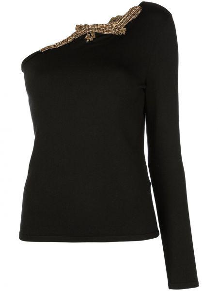 Czarna koszulka z jedwabiu Ralph Lauren Collection