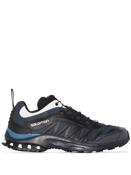 Ажурные черные кроссовки на шнуровке с заплатками Salomon S/lab