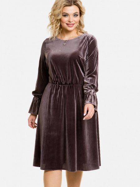 Коричневое вечернее платье Venusita