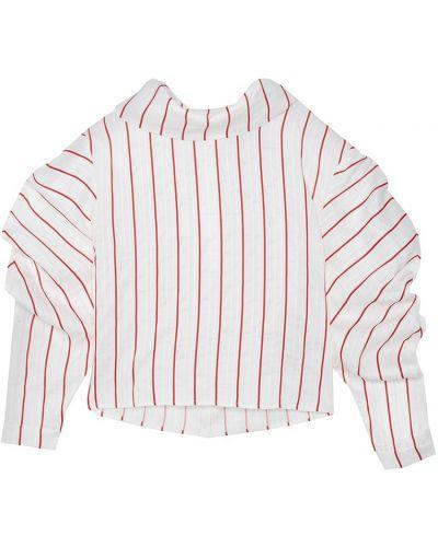 Белая блузка с воротником из вискозы A.w.a.k.e.