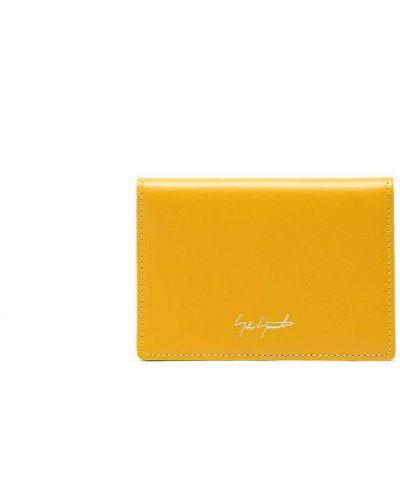 Желтая кожаная визитница Discord Yohji Yamamoto