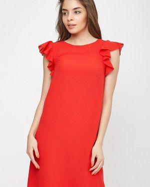 Платье прямое красный Sfn