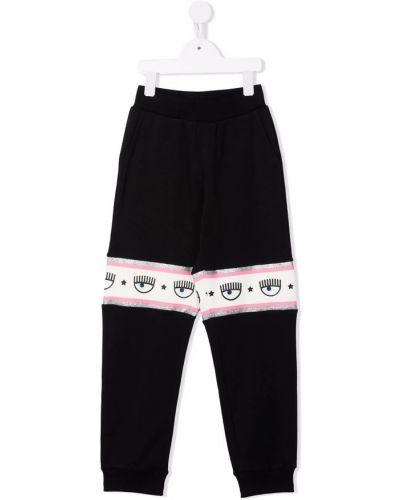 Czarne joggery Chiara Ferragni Collection
