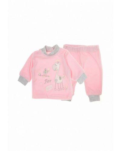 Розовый костюм фламинго текстиль