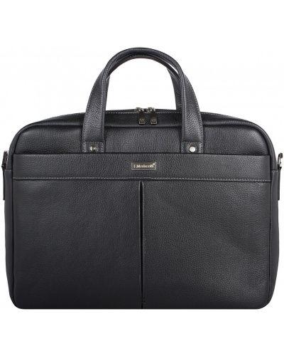 Кожаная сумка на молнии для документов Franchesco Mariscotti