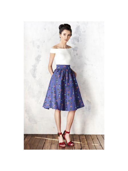 Niebieska spódnica na lato Kasia Miciak Design