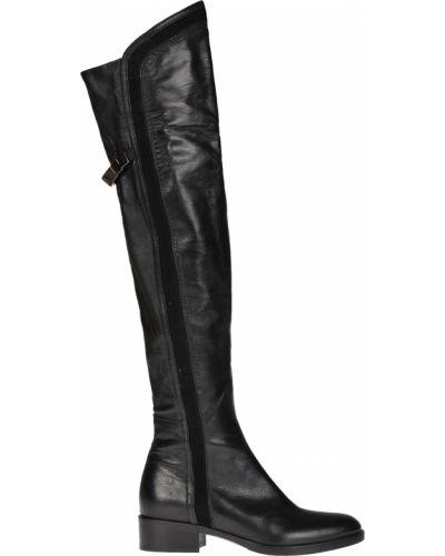 Ботфорты на каблуке кожаные Le Pepe