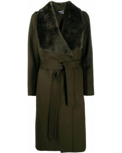 Прямое зеленое шерстяное длинное пальто Mackage