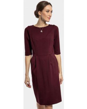 Повседневное платье бордовый красный Vladi Collection