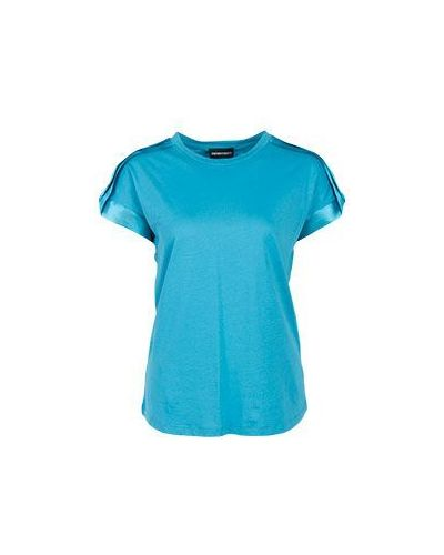 Свободная футболка с надписями Emporio Armani