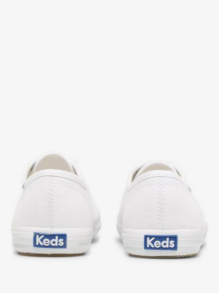 Хлопковые мягкие белые низкие кеды Keds