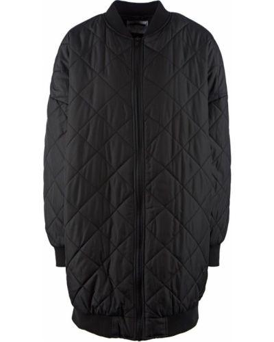 Стеганая черная стеганая куртка на молнии Noisy May