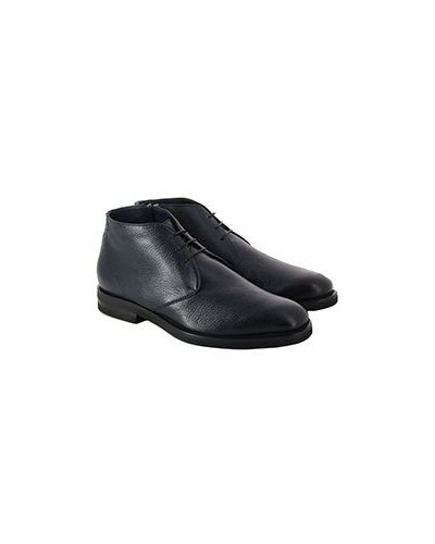 Синие кожаные ботинки Pellettieri Di  Parma