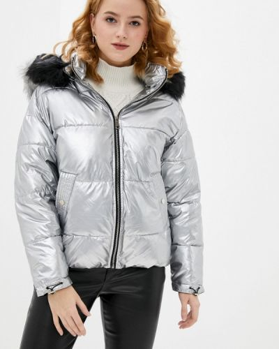 Серебряная утепленная куртка Softy