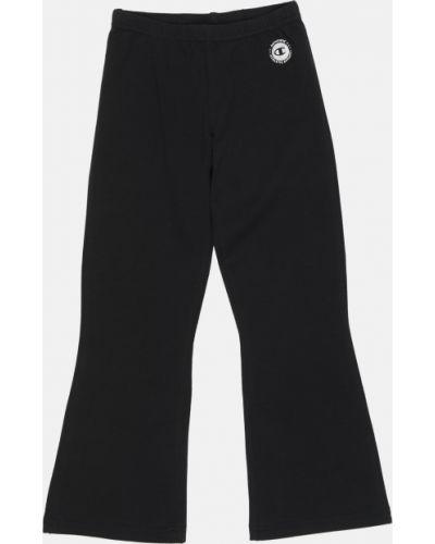 Черные брюки на резинке свободного кроя Champion