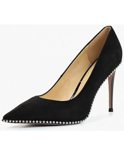 Туфли на каблуке замшевые осенние Vitacci