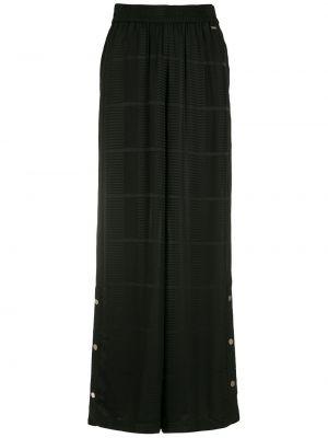 Широкие брюки - черные Armani Exchange