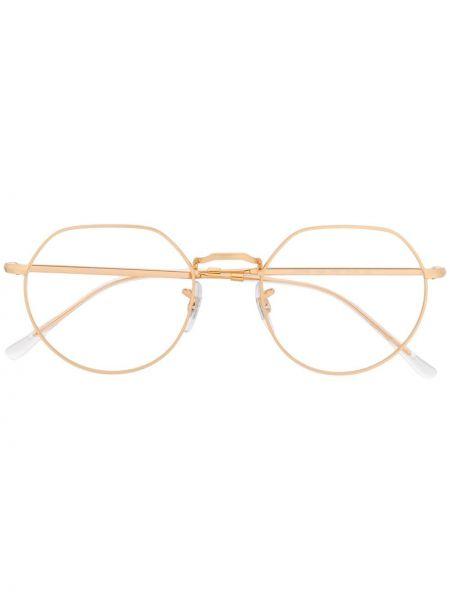 Prosto oprawka do okularów metal okrągły złoto Ray-ban