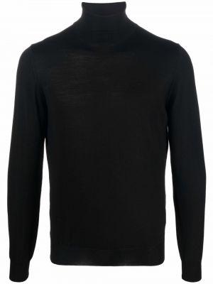 Czarny sweter wełniany Lardini