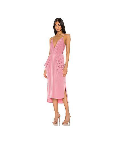 Платье миди розовое с запахом Bcbgeneration