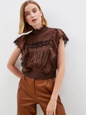 Блузка с короткими рукавами - коричневая One Teaspoon
