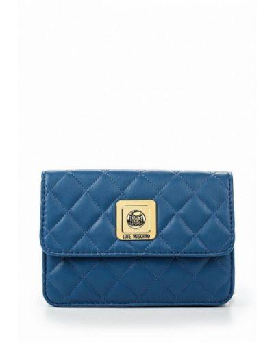 Синяя сумка через плечо Love Moschino