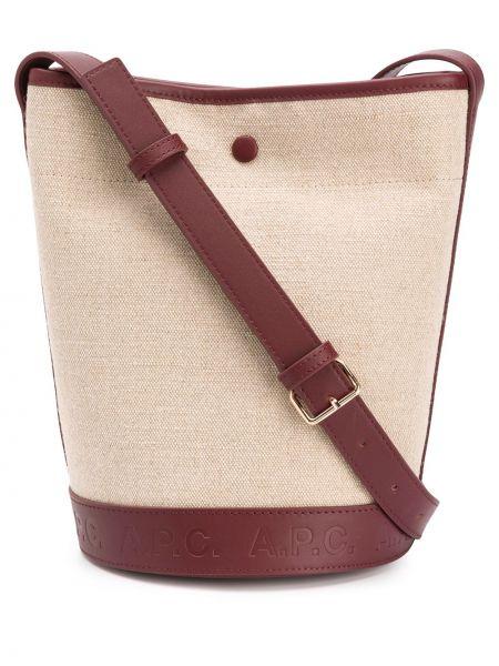 Skórzana torebka bielizna z logo A.p.c.