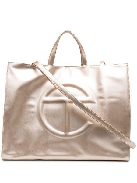 Złota torba na ramię Telfar