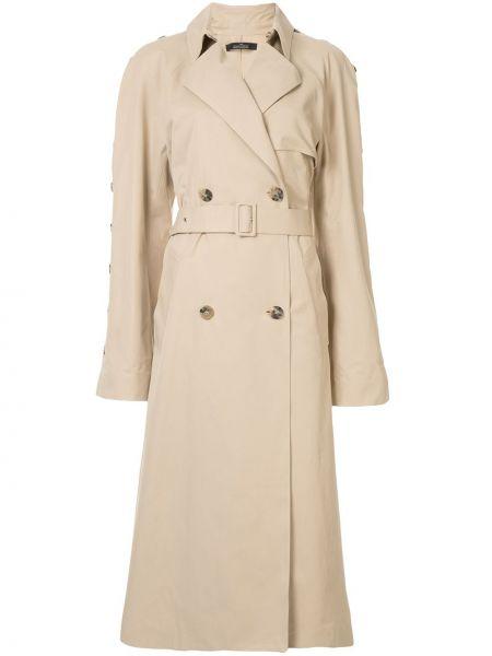 Длинное пальто с поясом на пуговицах двубортный Rokh