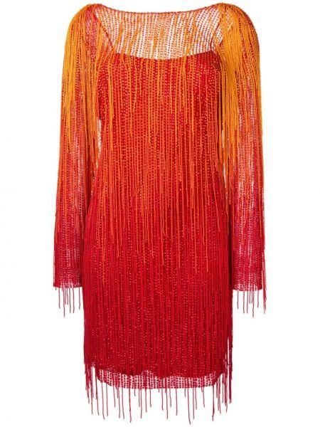 Платье макси длинное - оранжевое Alberta Ferretti