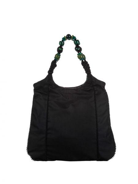 Черная нейлоновая сумка-тоут Prada Pre-owned