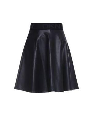 Czarna spódnica skórzana Dkny