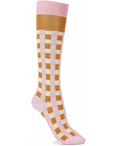 Шелковые розовые носки Marni
