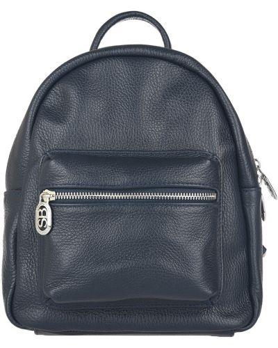 Кожаный рюкзак - синий Sara Burglar