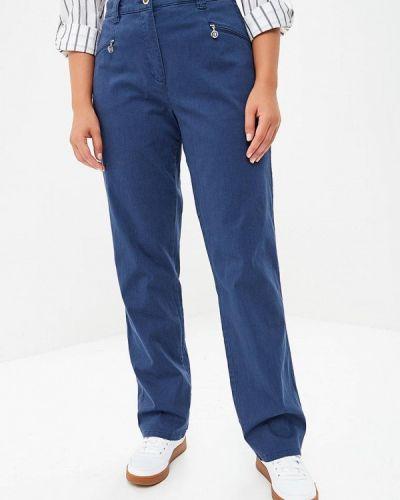 Синие брюки повседневные Ulla Popken