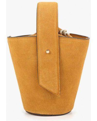 Желтая сумка с ручками Mango