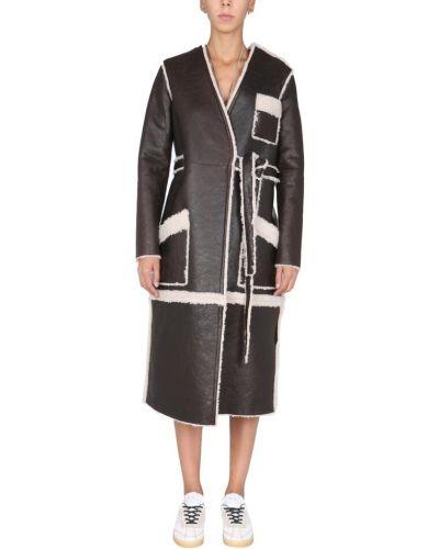 Brązowy płaszcz Mm6 Maison Margiela