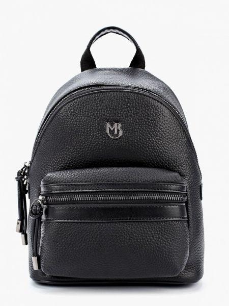 Городской черный рюкзак из натуральной кожи Marco Bonne