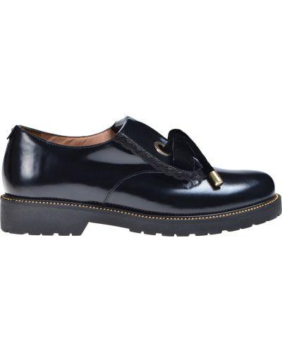 Черные лоферы на каблуке Twin-set