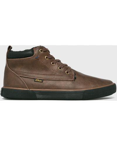 Ботинки на шнуровке высокие резиновые S.oliver