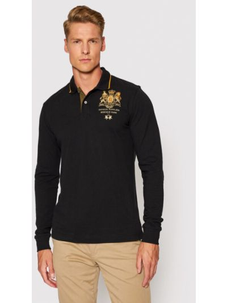 Czarna koszulka La Martina